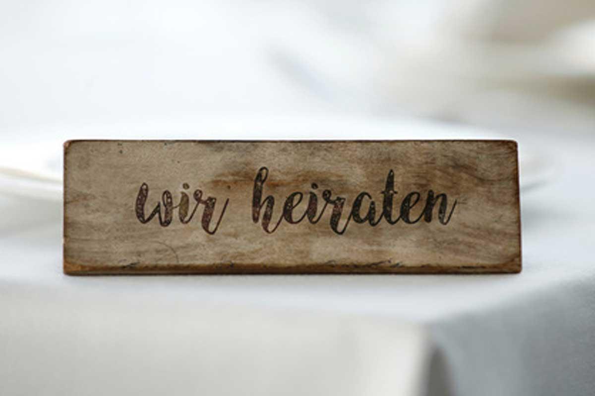 Holz-Gravur | Hochzeitsdeko